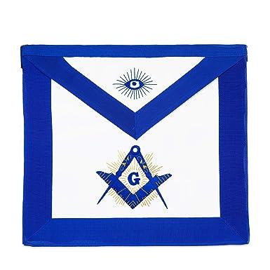 Gold Shining Square & Compass Master Mason Masonic Apron