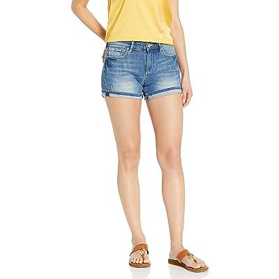A|X Armani Exchange Women's Wide Leg Stretch Slub 5 Pocket Denim Shorts: Clothing