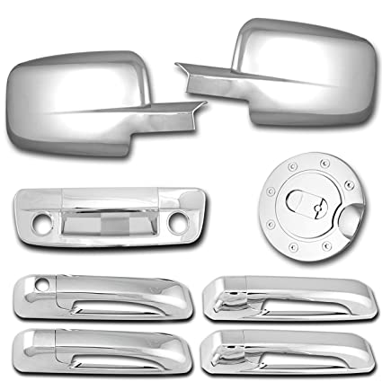09-17 Dodge Ram 1500+2500+3500+HD Chrome 4 Door Handle Driver W//Keyhole Cover