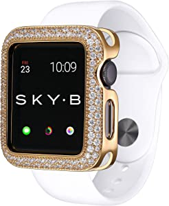 SKYB Soda Pop Yellow Gold Protective Jewelry Case for Apple Watch Series 1, 2, 3, 4, 5 Devices - 38mm