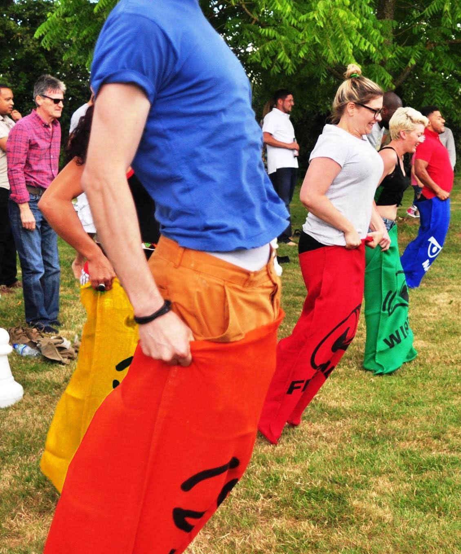 Garden Games Sac Race Grandi Sacchi de Juta per Corsa con I Sacchi per Adulti e Bambini
