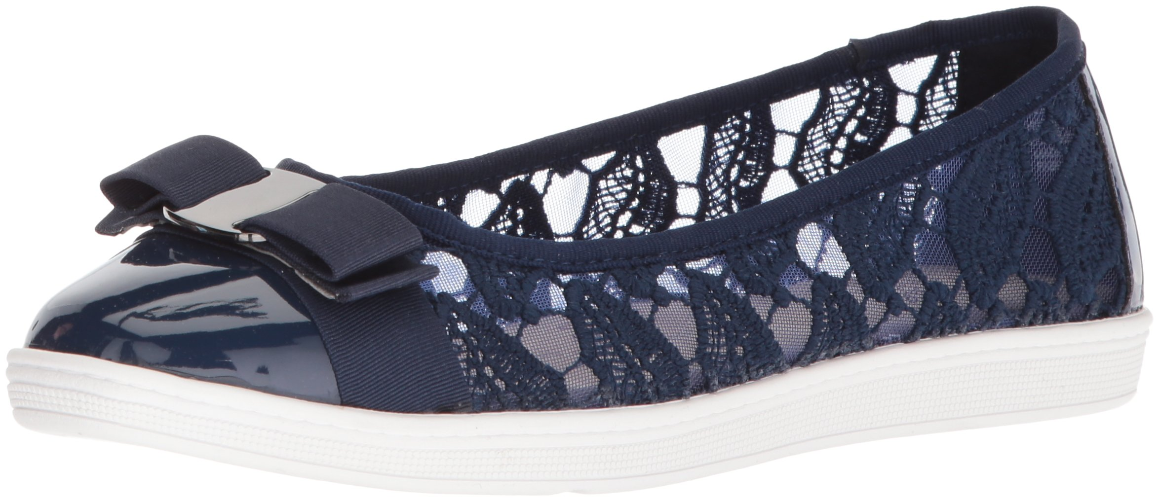 Soft Style by Hush Puppies Women's Fagan Loafer, True Navy Macrame, 09.0 M US