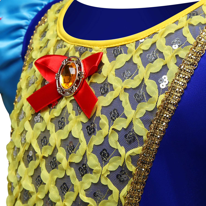 Tsyllyp Girl Snow White Coustume Princess Tutu Dress up Party Gown by Tsyllyp (Image #6)