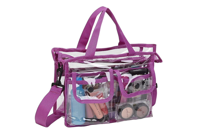 Seya Makeup Artist Clear PVC Set Bag w/Removable Shoulder Strap (Purple)