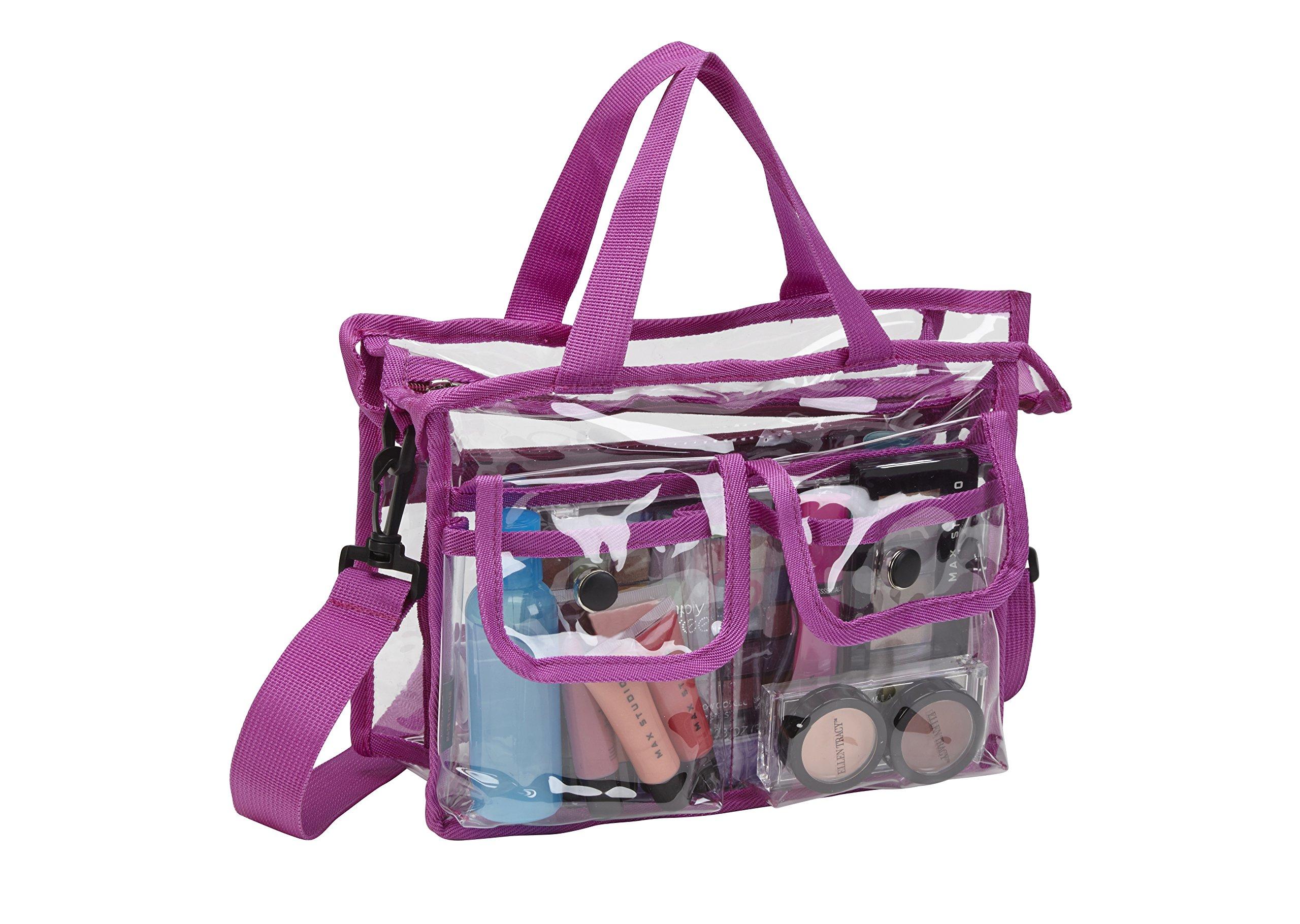 Amazon Com Seya Makeup Artist Clear Pvc Set Bag W