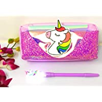Tera13 (Pack of 1) Unicorn Pouch for Girls with Pen / Unicorn Pouch with LED Pen / Unicorn Birthday Supplies / Unicorn Pouch with Pen Combo