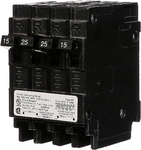 Siemens Q21525CT 15-Amp 1 Pole 25-Amp Double Pole 10-Kaic Circuit Breaker
