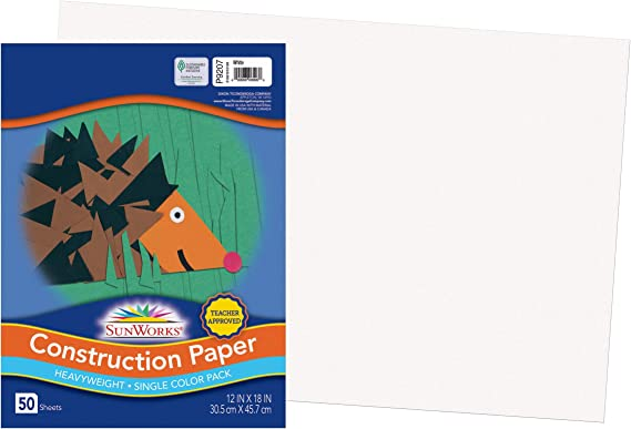 Art Heavyweight Construction Paper 50 Sheets Art Project 12 inches x 18 inches Light Blue Drawing Paper All Purpose Coloring Crafts Painting Construction Paper Kids Art Item # 12CPLB