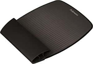 Fellowes I-Spire Series Wrist Rocker, Mouse Pad with Rocking Motion Support, Black/Gray (9472901)