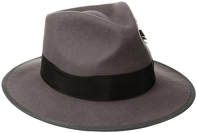 e91a8ebdbe886 Scala Classico Men s Wool Felt Snap Brim Fedora at Amazon Men s Clothing  store  New Yorker Hat