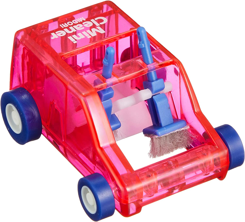 Midori Desktop Mini Cleaner and Dust Sweep, Pink Transparent (65612006)