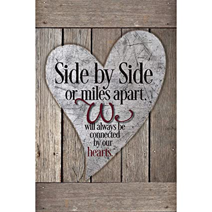 Friends Family Wood Plaque with Inspiring Quotes 6x9 - Classy Vertical  Frame Wall & Tabletop Decoration | Easel & Hanging Hook | Side by Side or  Miles ...