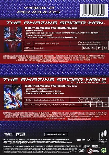 The Amazing Spider-Man + The Amazing Spider-Man 2 DVD: Amazon.es: Andrew Garfield, Emma Stone, Rhys Ifans, Jamie Foxx, Marc Webb: Cine y Series TV