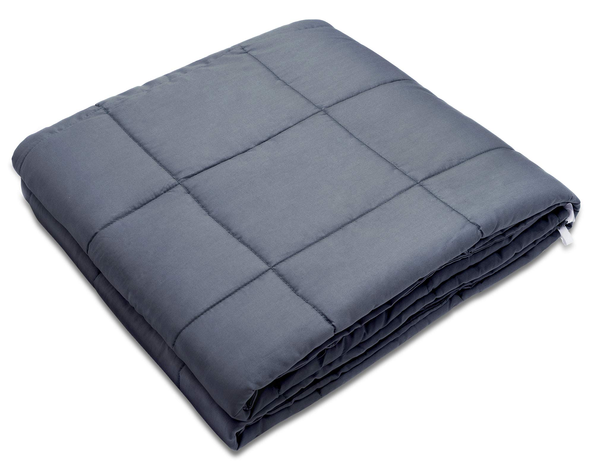Amy Garden Weighted Blanket for Anxiety, ADHD, Autism, Insomnia or Stress - Premium Various Weighted Blankets for Great Sleep (48''x72'',15 lbs for 140-150 lbs Individual, Grey)