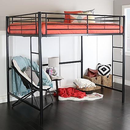 Amazon.com: New Full Over Loft Black Metal Framed Bed: Kitchen & Dining