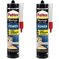 Pattex 9H PXP37X Montagelijm, 740 g, bouwlijm met sterke hechting, krachtlijm voor absorberende materialen, lijm voor…