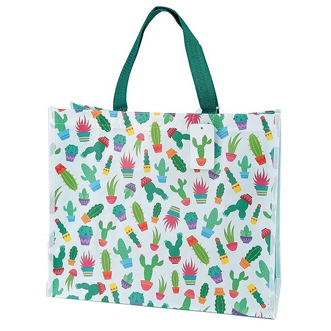888e18ae99341 Einkaufstasche Kaktus Design aus stabilem Polypropylen  Amazon.de   Bekleidung