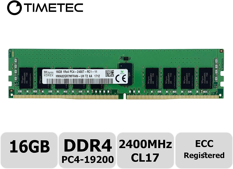 1x16GB 2Rx8 PC4-2400T Memory HMA82GR7AFR8N-UH ECC REG Server Ram Hynix 16GB