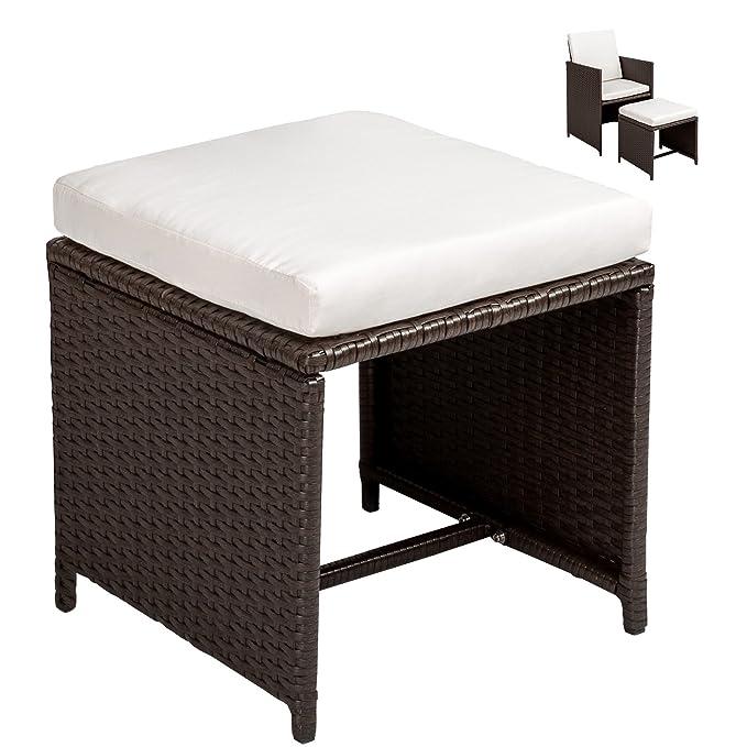 TecTake Conjunto muebles de jardín en ratán sintético comedor juego 4+4+1 + funda completa   tornillos de acero inoxidable - disponible en diferentes ...