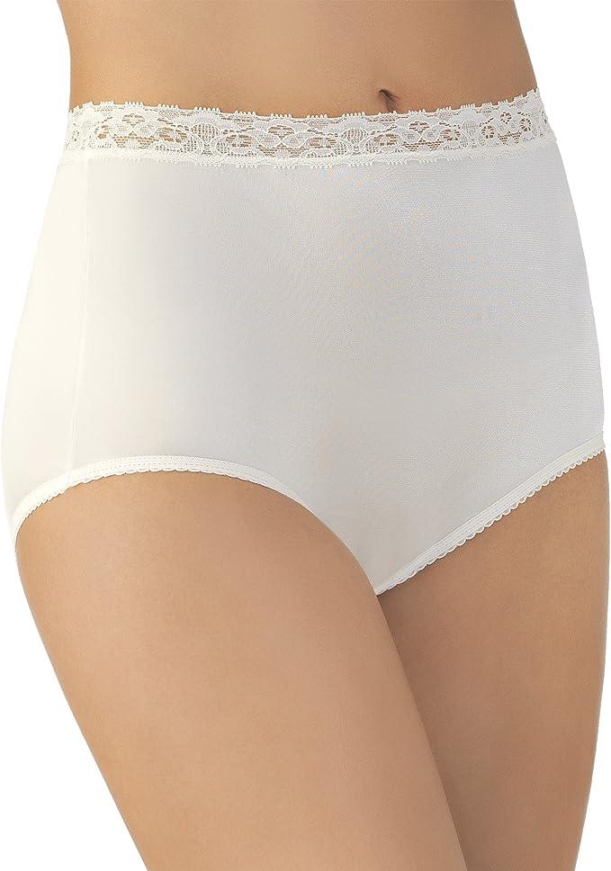 3 Pair WHITE Lace Elastic 100/% Nylon Panties Size 4 Carole Panty USA Made