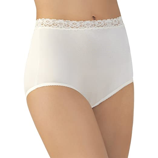 6c552f6d31a5 Vanity Fair Women's Plus Size Perfectly Yours Nylon with Lace Brief Panty  13060 at Amazon Women's Clothing store: Briefs Underwear