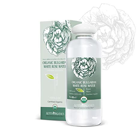 Alteya Organic agua floral rosa blanca 500 ml – botella grande - 100% USDA producto
