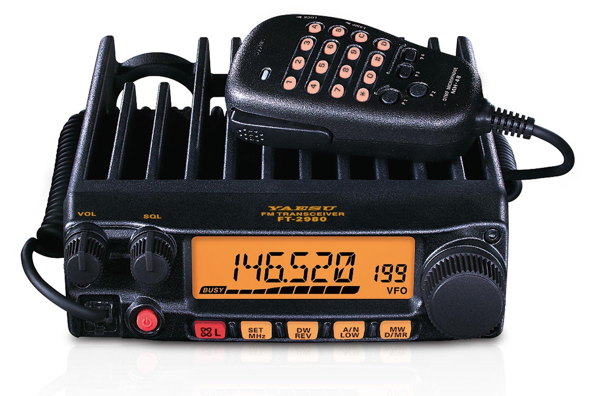 FT-2980R FT-2980 Original Yaesu 144 MHz Single Band Mobile Transceiver 80 Watts - 3 Year Manufacturer Warranty
