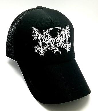 a94bbfc6 Wasuphand Mayhem Black Baseball Cap Hard Rock Heavy Metal Punk Hardcore  Band Music Sew On Patch