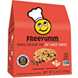 FreeYumm - Oatmeal Chocolate Chip Soft Baked Cookies – 21 Individually Wrapped Cookies - Allergen Free - Gluten Free - School