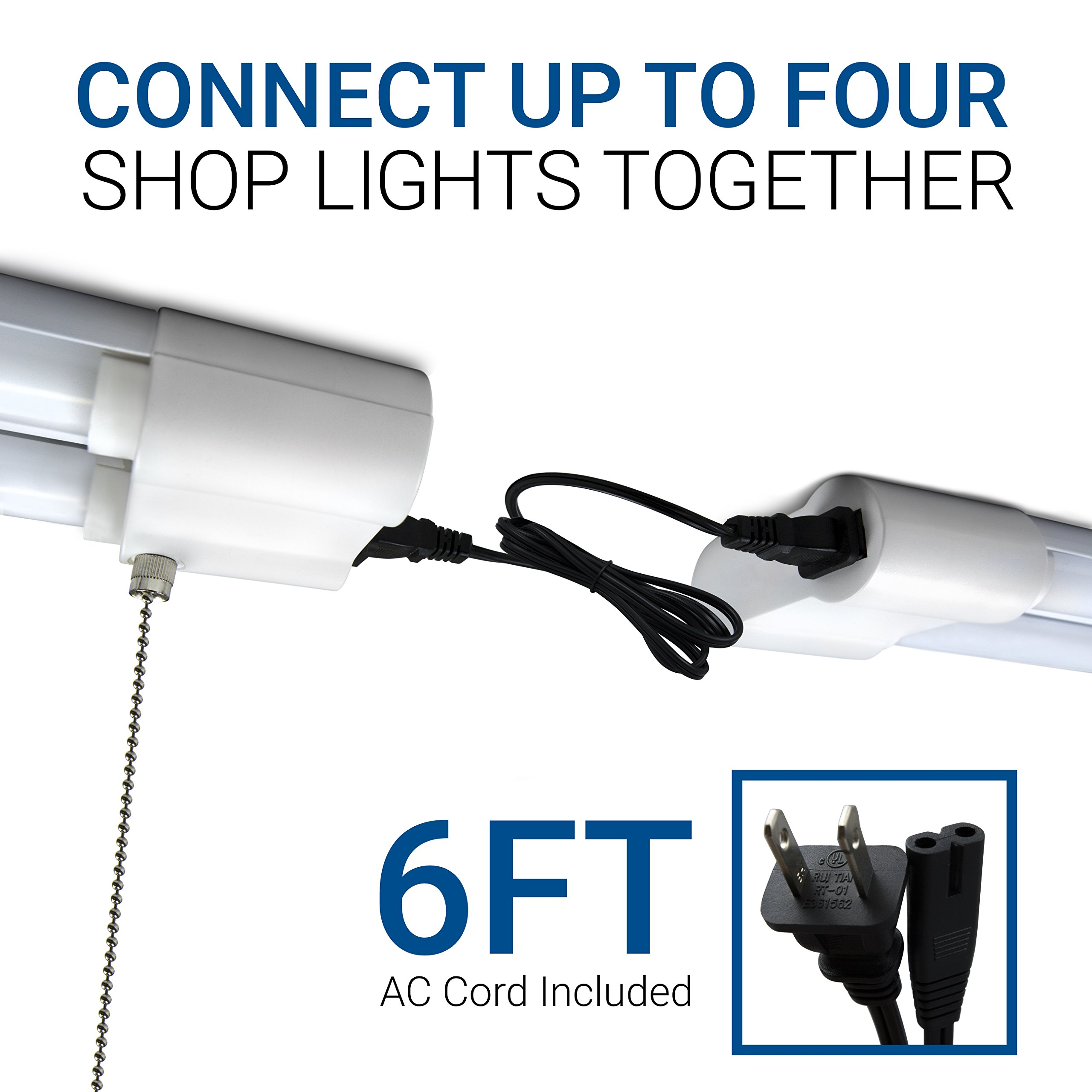 Hyperikon LED Utility Shop Light, 4FT Linkable Double