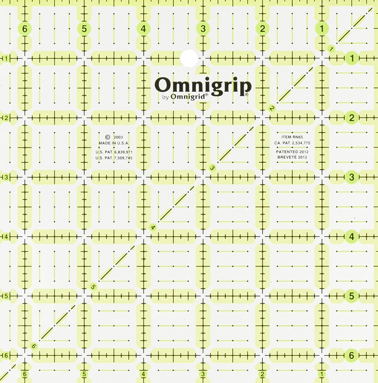 Dritz Omnigrid 6-1/2-Inch by 6-1/2-Inch, Quilter's Square Quilter's Square R65G