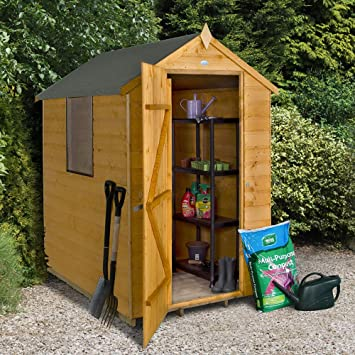 Forest Garden 6x4 Shiplap Apex Garden Shed   Dip Treated