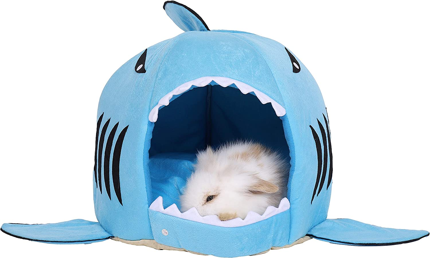 Spring Fever Hamster Guinea Pig Rabbit Dog Cat Chinchilla Hedgehog Small Animal Pet Bed Fleece Cushion Shark House Hideout Cage Accessorie