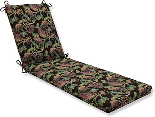 Pillow Perfect Indoor Outdoor Chaise Lounge Cushion with Sunbrella Vagabond Paradise Fabric, 80 in. L X 23 in. W X 3 in. D