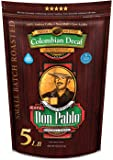 5LB Don Pablo Colombian Decaf - Swiss Water Process Decaffeinated - Medium-Dark Roast - Whole Bean Coffee - Low Acidity…