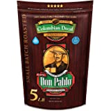 5LB Don Pablo Colombian Decaf - Swiss Water Process Decaffeinated - Medium-Dark Roast - Whole Bean Coffee - Low Acidity - 5 P