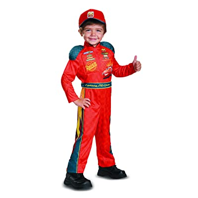 Cars 3 Lightning Mcqueen Classic Toddler Costume, Red, Large (4-6): Toys & Games