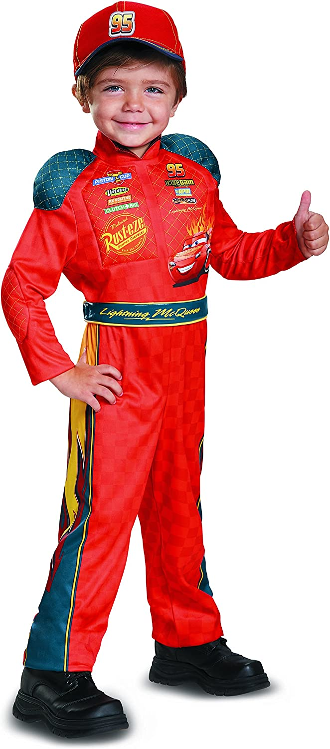 Cars 3 Lightning Mcqueen Classic Toddler Costume Red 2T Small