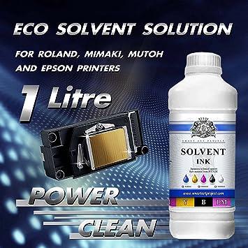 1 litro Eco disolvente líquido limpiador de cabezal de impresora ...