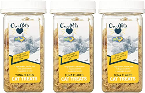 Our Pets 3 Pack of Tuna Flakes Cat Treats, 1 Ounce Each