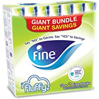 Fine Fluffy Facial Tissues, Nylon pack of 12+2 Free - 200 Sheets, 2 Ply (Total 14 packs)