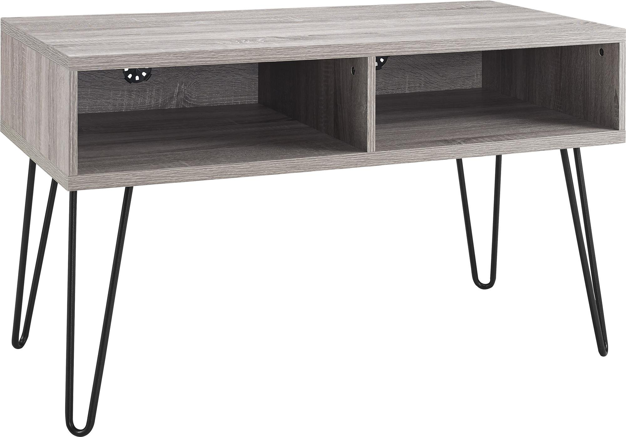Ameriwood Home Owen Retro TV Stand for TVs up to 42'', Weathered Oak