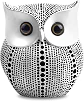 Owl Statue Decor (White) Small Crafted Buho Figurines for Home Decor Accents, Living Room Bedroom Office Decoration,...