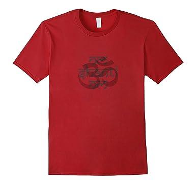 Mens Vintage Om Shanti Om T-shirt 3XL Cranberry