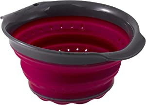 Squish 3 Cup Collapsible Berry Colander - Berry & Gray