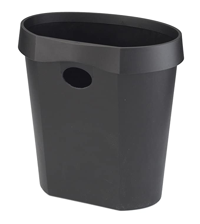 Avery DR500BLK DTR Eco Waste Bin with Removable Rim, 350 x 340 x 250 mm, 18  L - Black