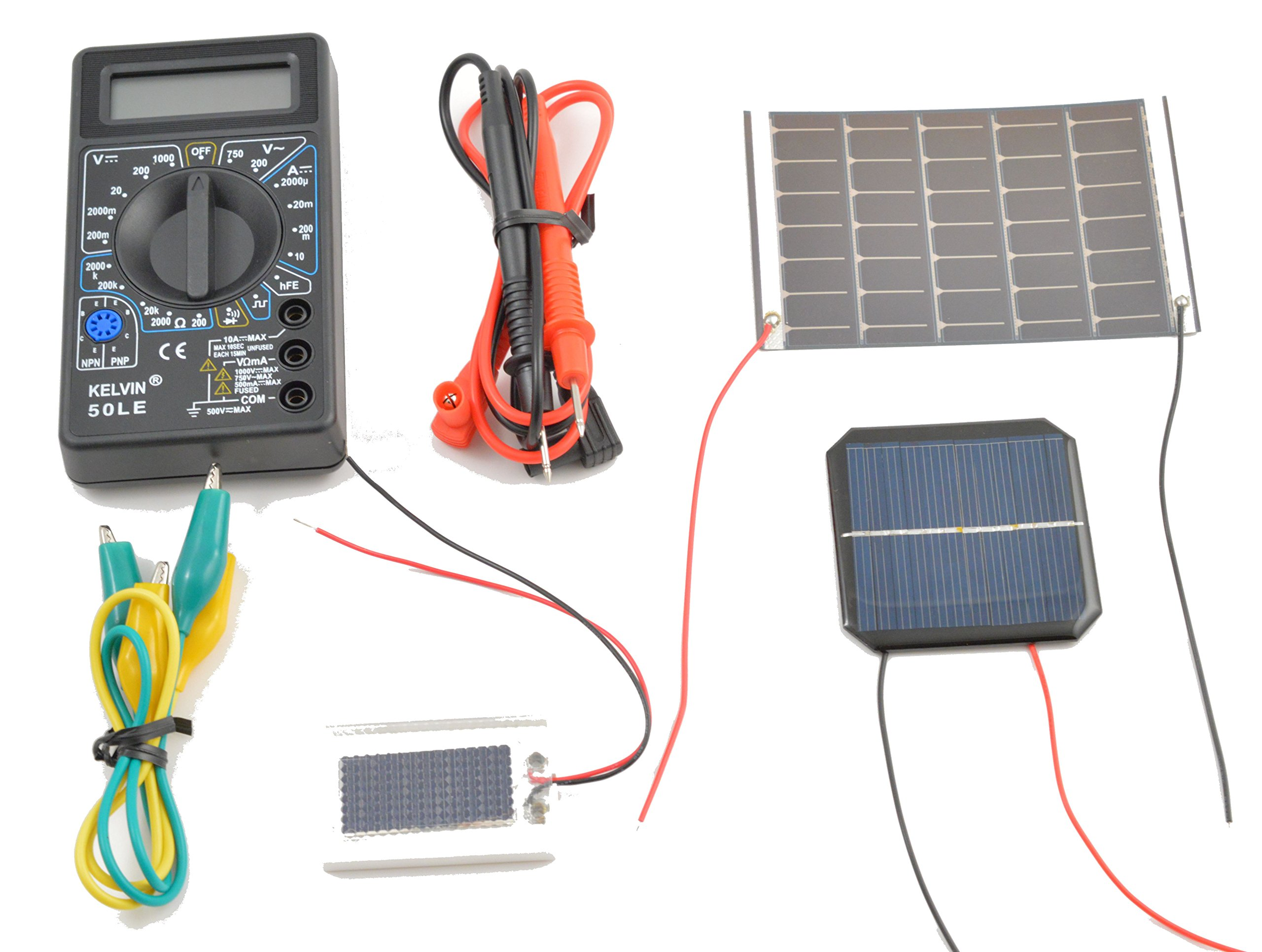 Solar Science Project - Compare Solar Panels, Amorphous Thin-Film & Crystalline Cells