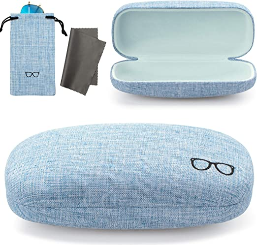 Hard Shell Eyeglass /& Sunglasses Case Holder for Reading Glasses /& All Eyewear