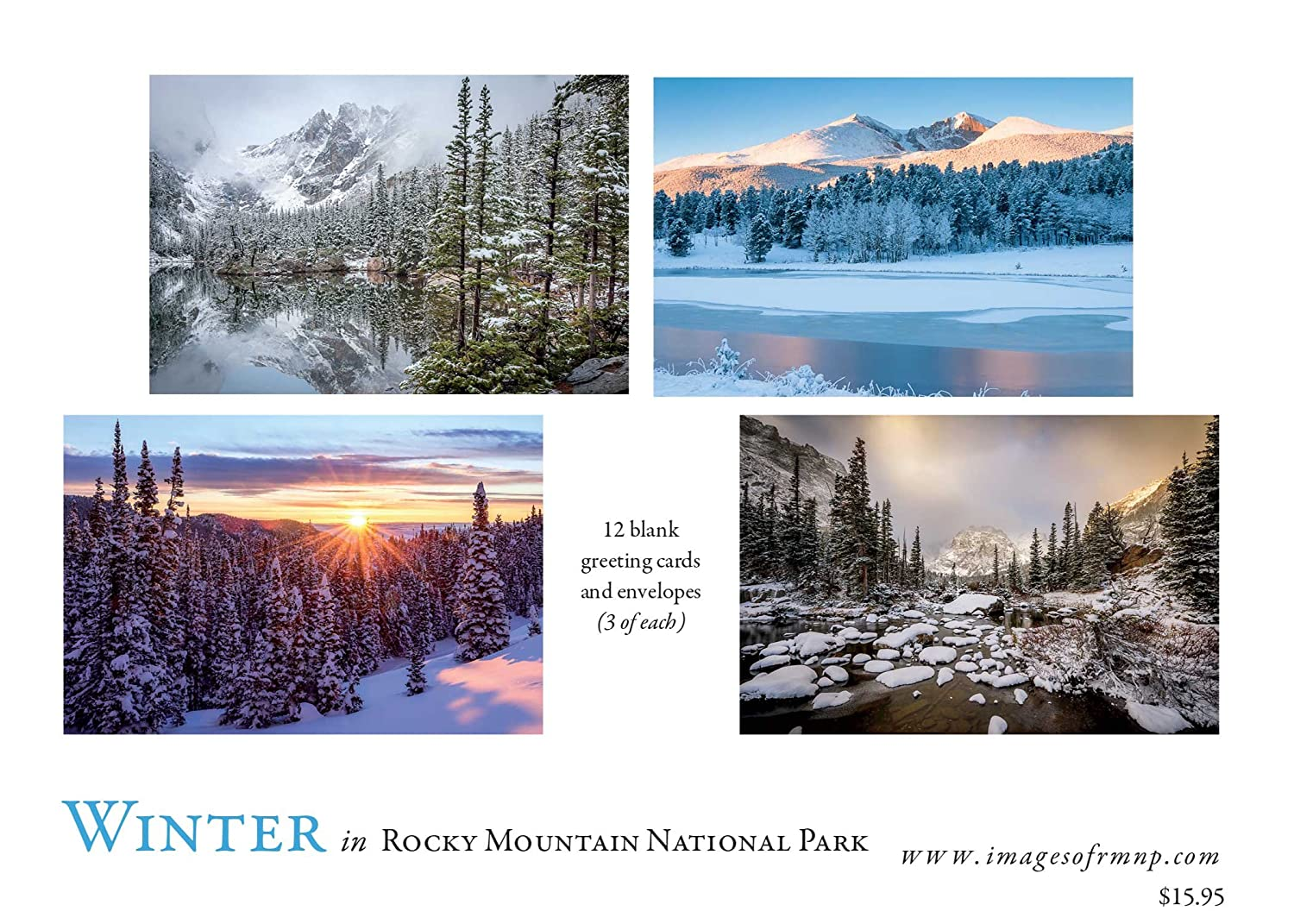 Amazon Box Of 12 Blank Cards With Envelopes Winter In Rocky