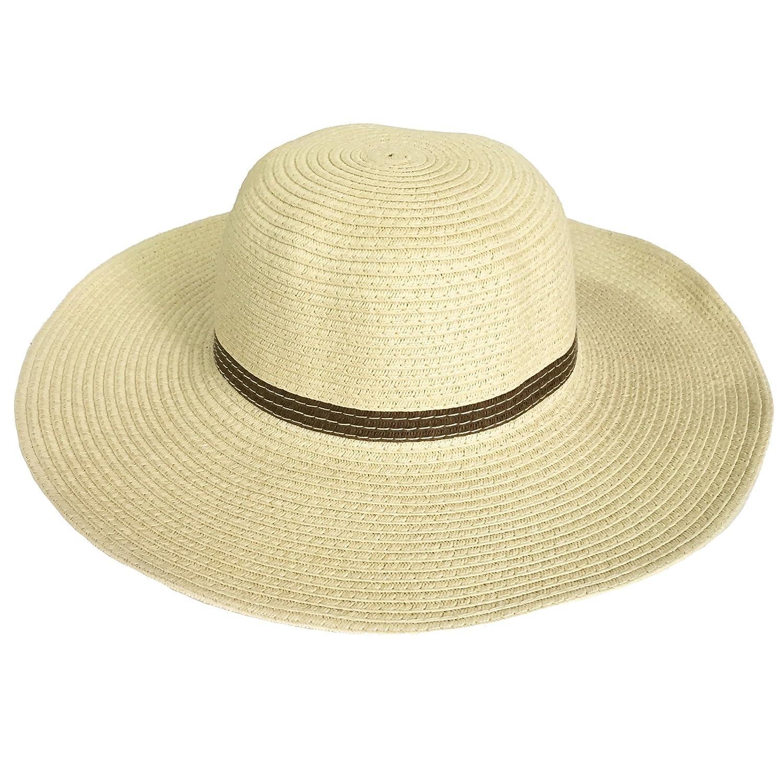 ACVIP Enfant Chapeau de Paille Capeline de Soleil Plage Voyage Bord Large  pour Fille (beige)  Amazon.fr  Vêtements et accessoires b65e7d821b2